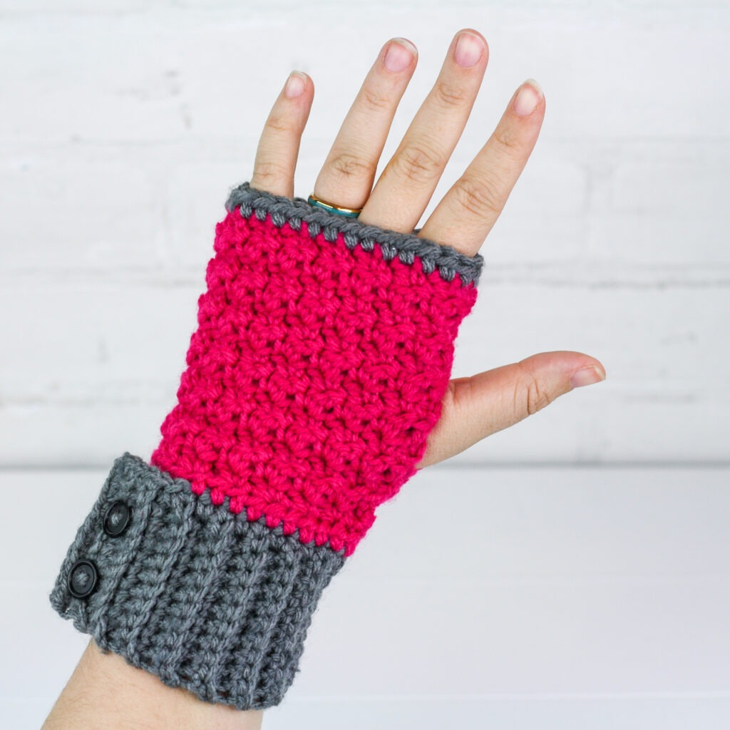 Simple Crochet Fingerless Gloves Free Pattern from The Spruce