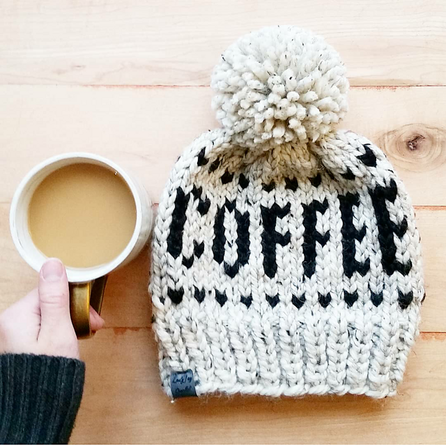 Coffee and Cocoa Word Beanies
