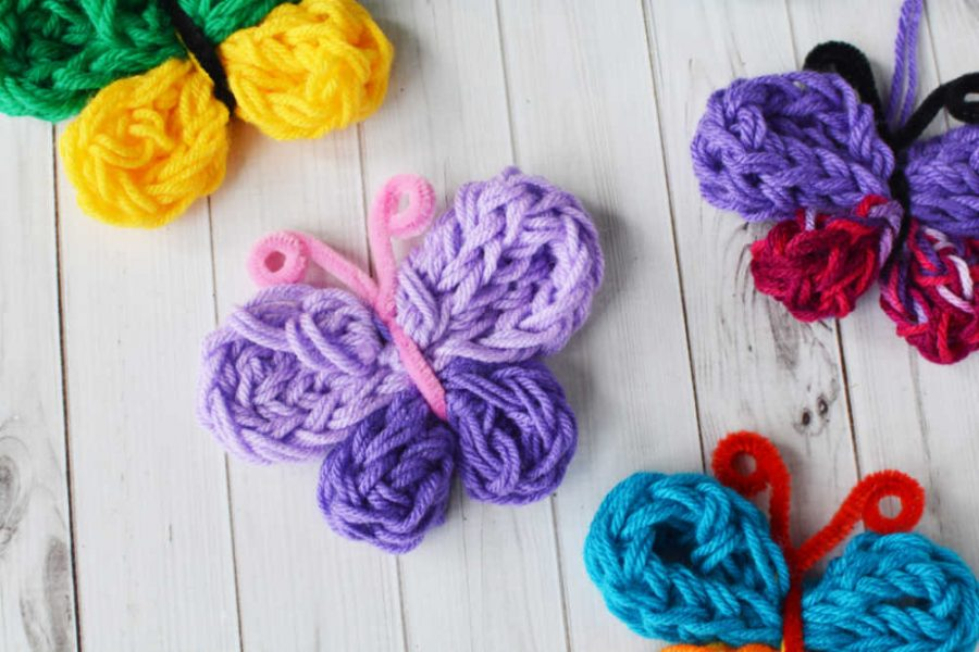 Finger Knitting as Texture