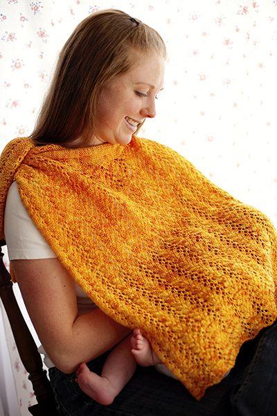Nursing Shawl Knitting Pattern