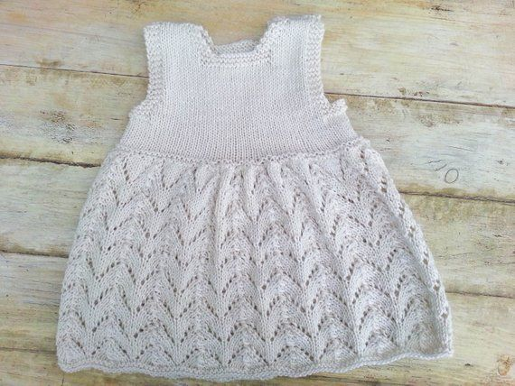 Simple Lace Baby Onesie Knitting Pattern