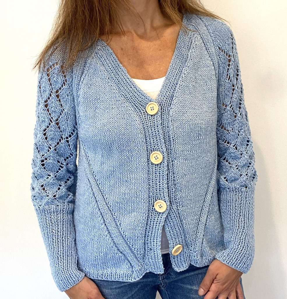 Lacy Cardigan and Matching Cowl