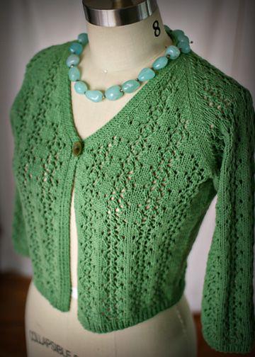 Cropped Lace Cardigan Knitting Pattern