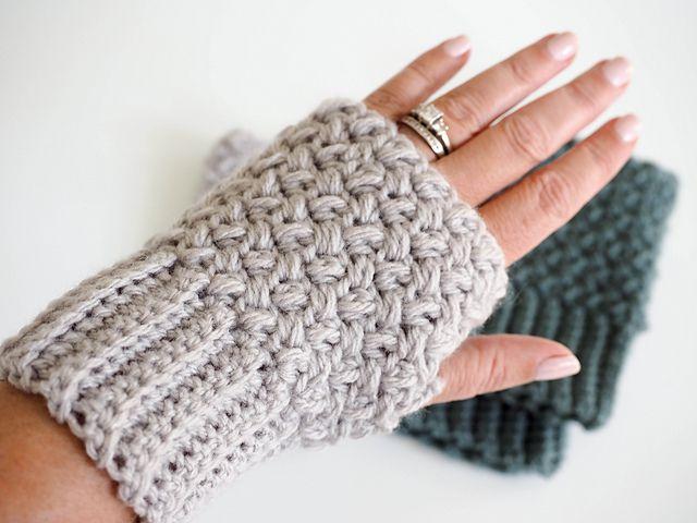 Treble Crochet Fingerless Gloves from The Spruce