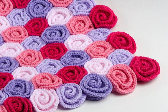 Rose Field Baby Blanket Crochet Pattern