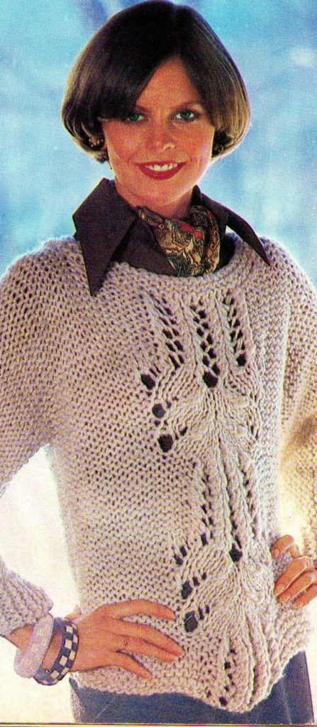 Pullover Pattern With Lace Panels