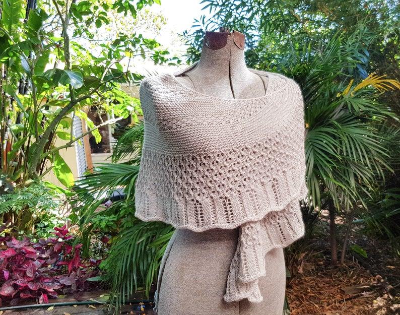 Modern Lace Shawl Pattern