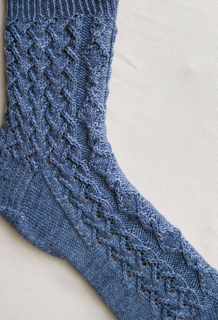 Lacy Cable Sock Pattern