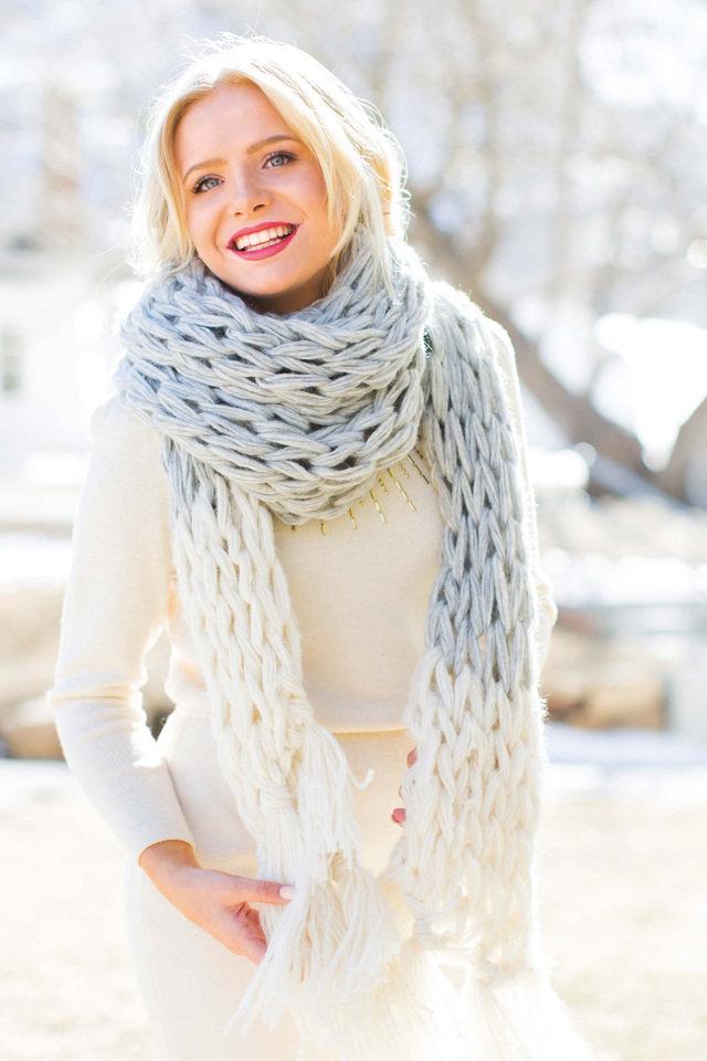 Stay Warm in an Arm-Knit Wrap