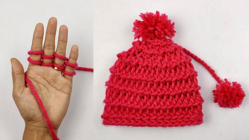 Finger Knitting to Make a Beanie