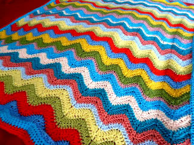 Cheerful Ripple Crochet Blanket Pattern