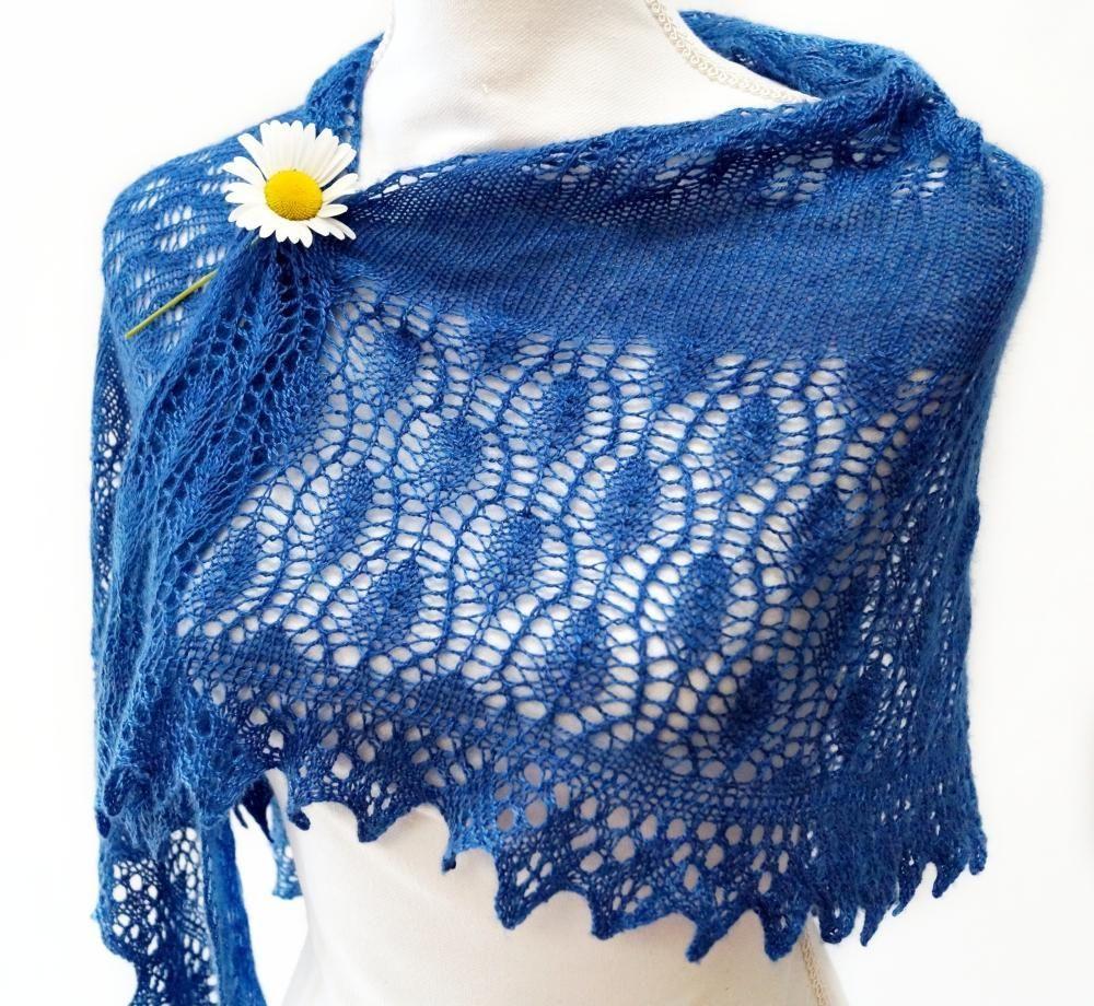 Lacy Bottom-Up Shawl Knitting Pattern