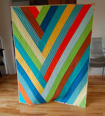 Diagonal Stripe Quilt