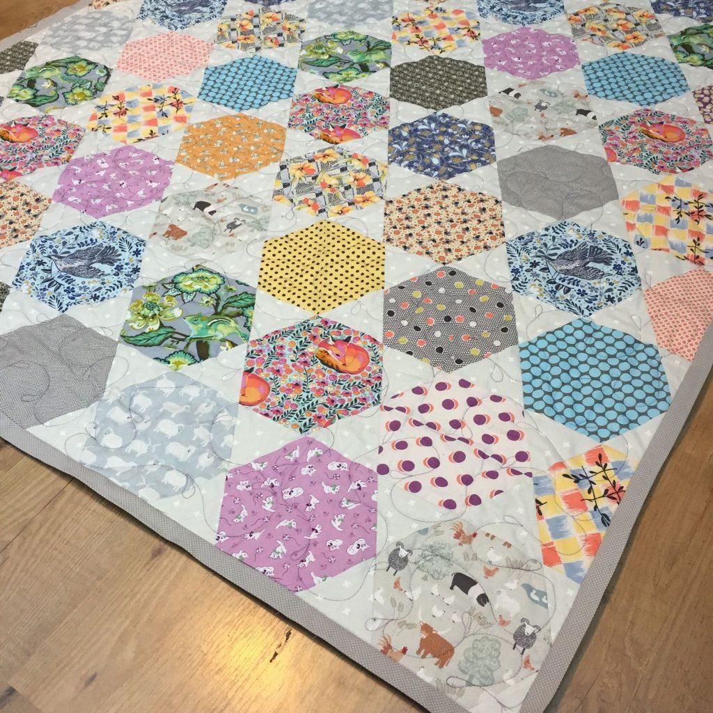 Large Hexagon Quilt Pattern