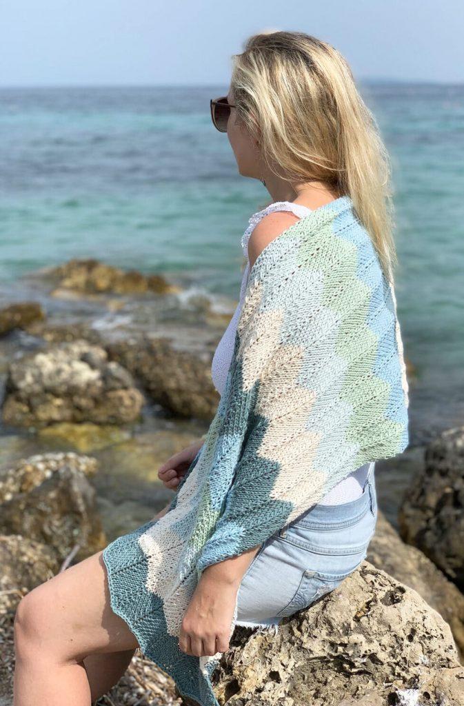 Sea Glass Knit Scarf