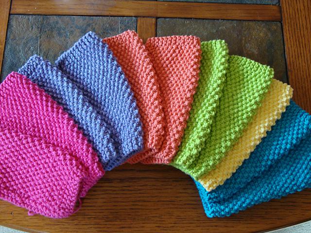 Unbelievably Easy Knit Dishcloth