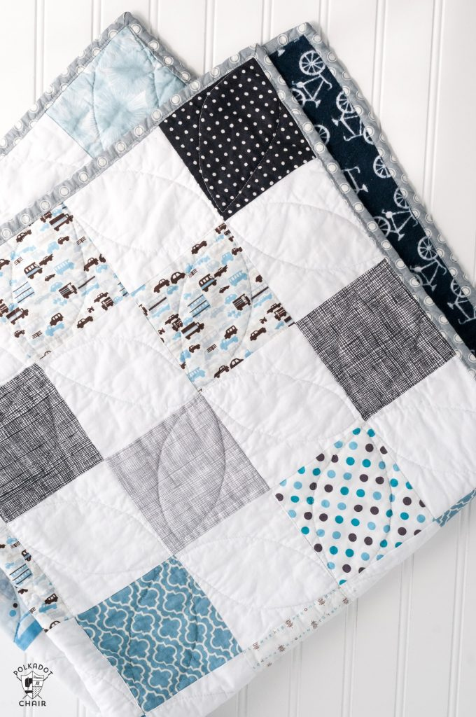Color-Blocked Patchwork Baby Quilt