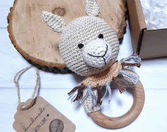Alpaca set with rattle/teether