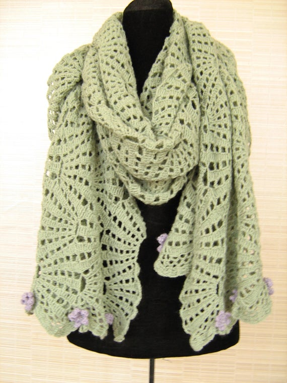 """Crochet pattern scarf / stole """"Belli"""
