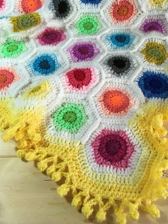 Hexagon Temperature Blanket