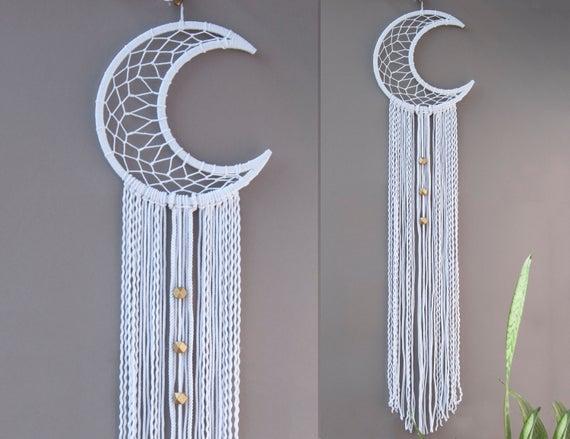 crescent moon dream catcher pattern
