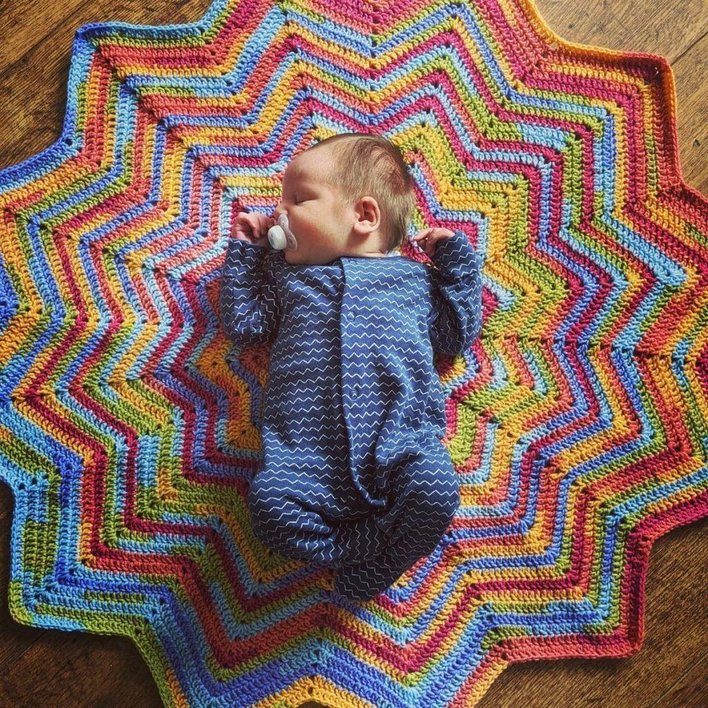 12 Point Star Temperature Blanket