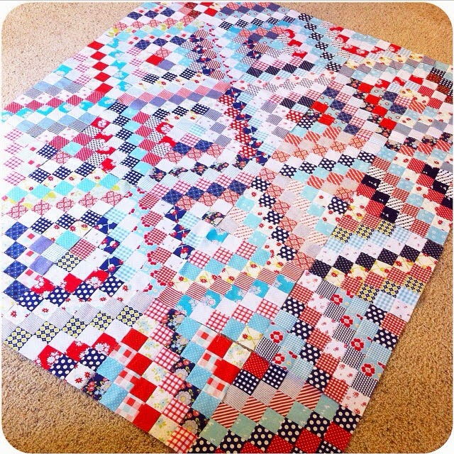 Super Fast Baby Quilt (Using the Scrappy Trip Method)