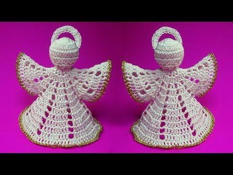 Crochet Christmas Ornament Angel Pattern