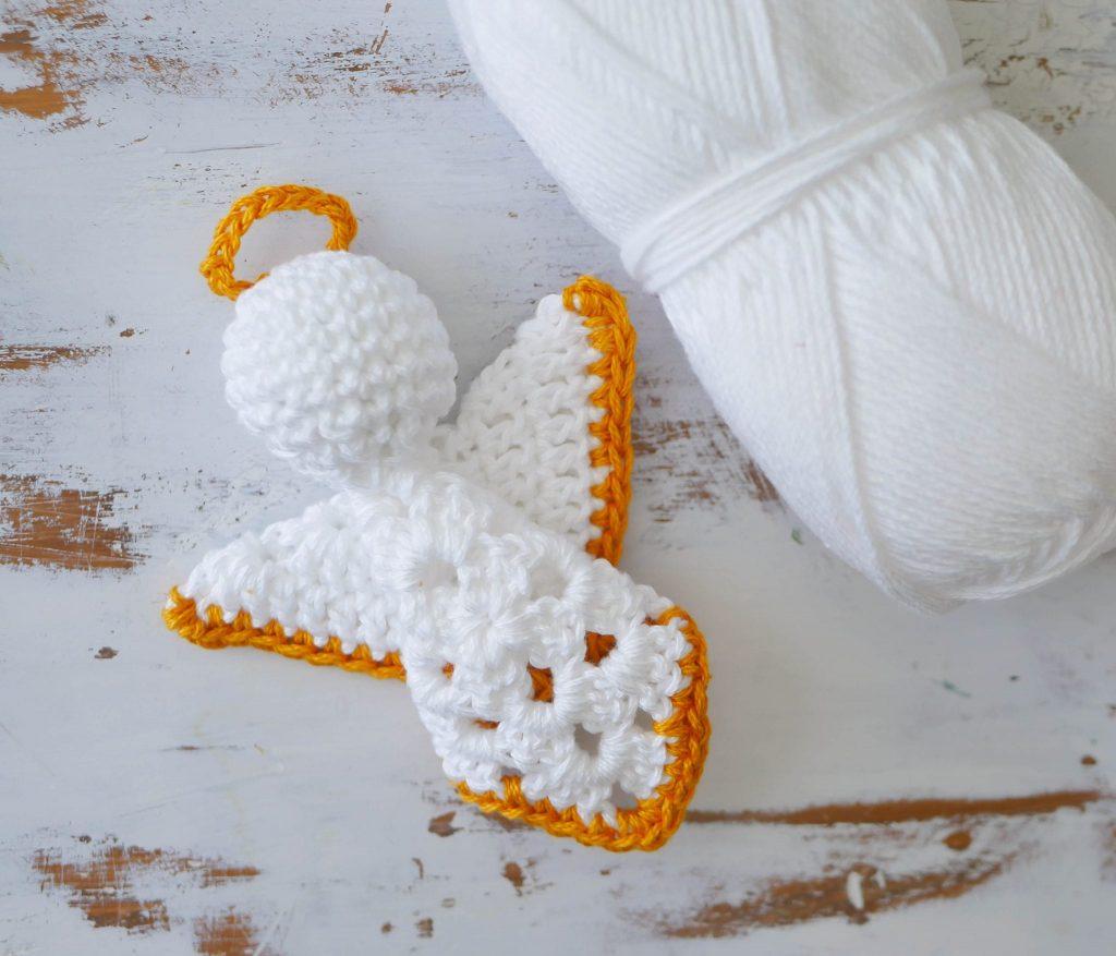Crochet Angel Granny Square Pattern