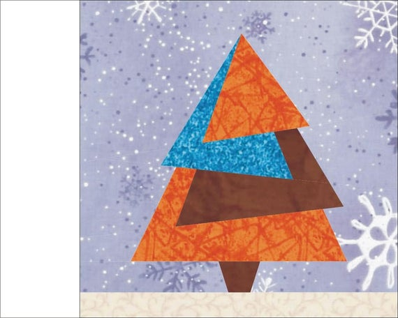 Christmas Tree Paper Pieced Quilt Pattern