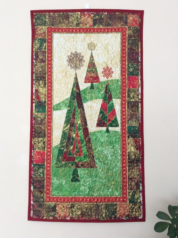 Christmas Tree Quilted Wall Hanging Pattern