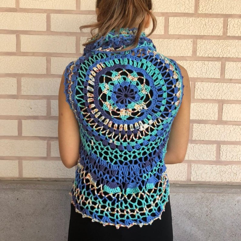 Mandala Poncho Crochet Pattern