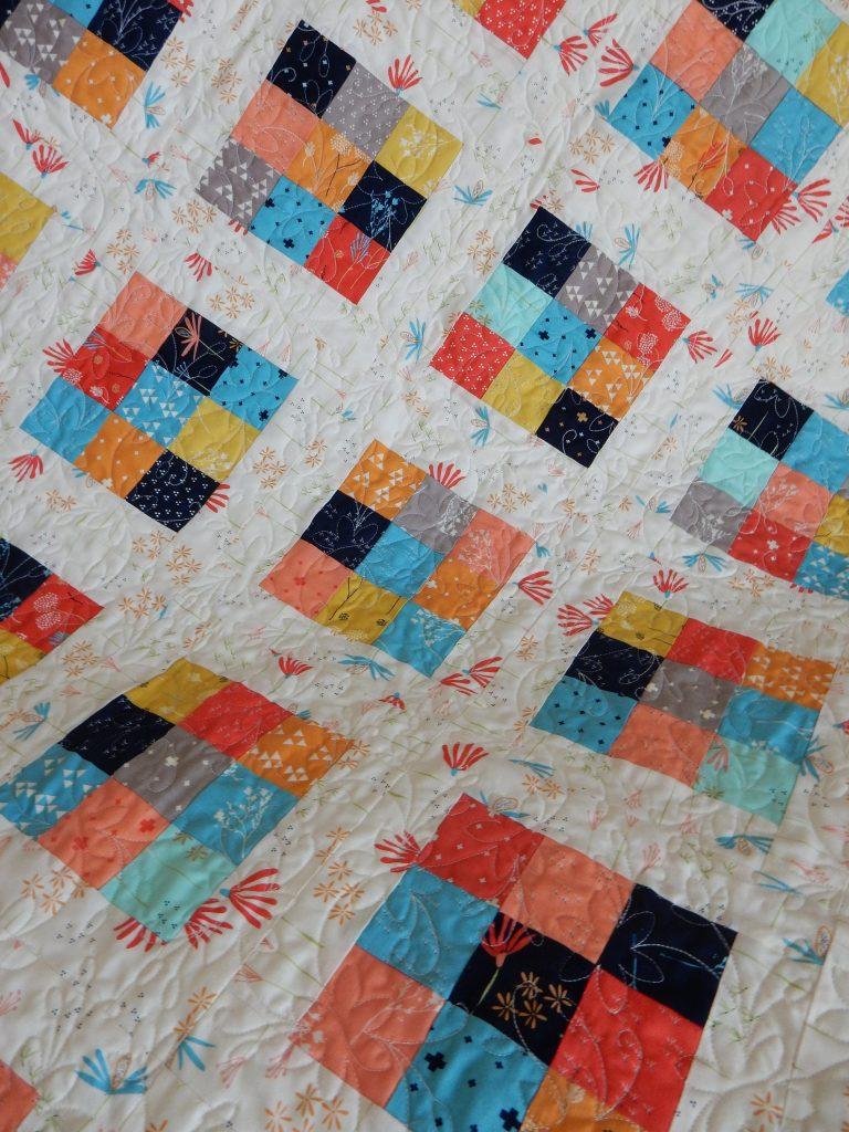 Nine Patch Christmas Scrap Quilt Pattern